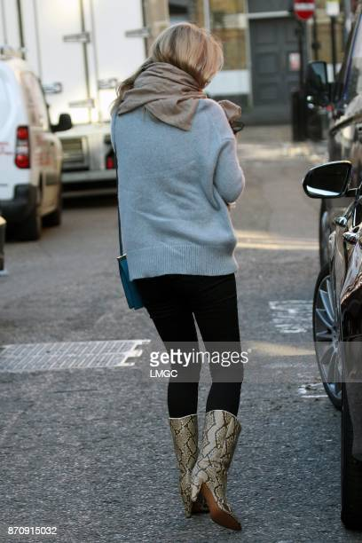 Kate Moss seen in Soho with a new Chihuahua puppy on November 6 2017 in London England