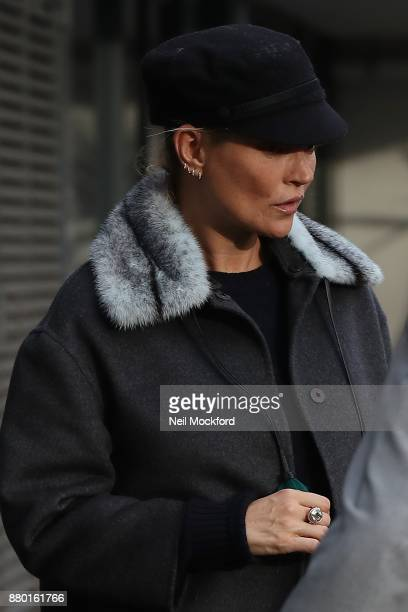 Kate Moss seen leaving the BANYA No1 Russian Spa Club after spending 3 hours in there on November 27 2017 in London England