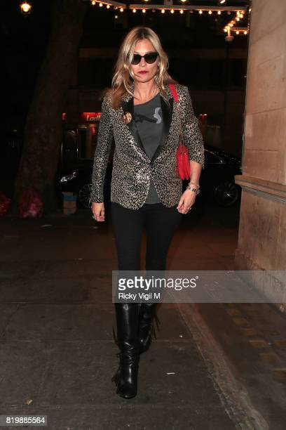 Kate Moss seen on a night out with boyfriend arriving at J Sheekey restaurant after watching Sienna Miller's performance in 'Cat on a Hot Tin Roof'...