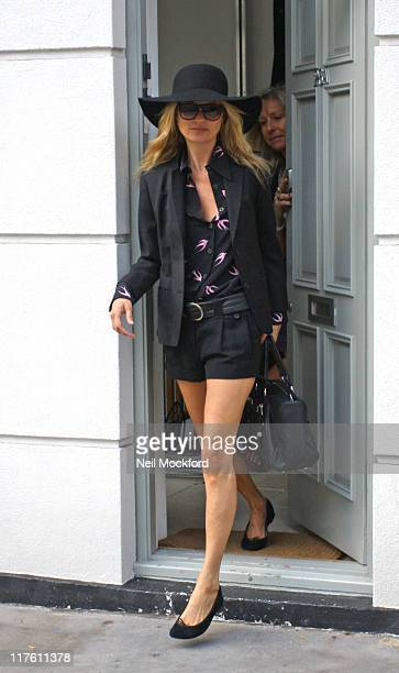 Kate Moss sighted in Notting Hill on June 29 2011 in London England