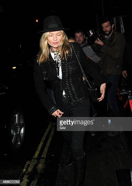 Kate Moss sighting at the Hotel Chantelle on September 16 2015 in London England
