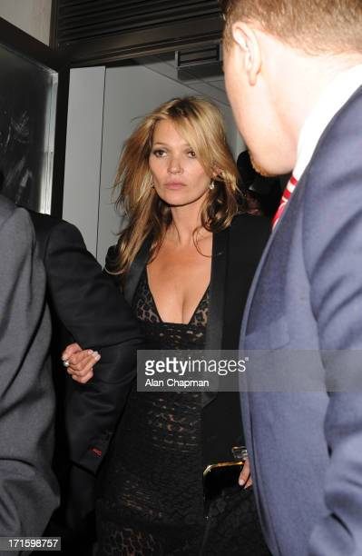 Kate Moss sighting leaving 45 Park Lane on June 26 2013 in London England