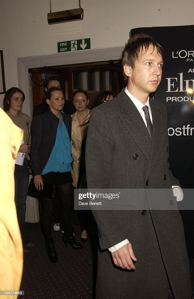 Kate Moss, Stella Mccartney And Kate Moss's Boyfriend Jefferson Hack, Frost French Fashion Tea Party At Bafta Cinema In Picadilly,turned The Normal Fashion Show On Its Head As The Audience Was Treated To A Film Of The Designers New Collection, London Fashion Week 2003
