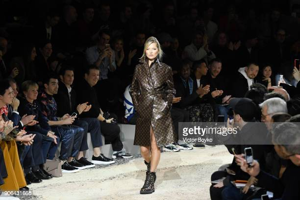 Kate Moss walks the runway during the Louis Vuitton Menswear Fall/Winter 20182019 show as part of Paris Fashion Week on January 18 2018 in Paris...