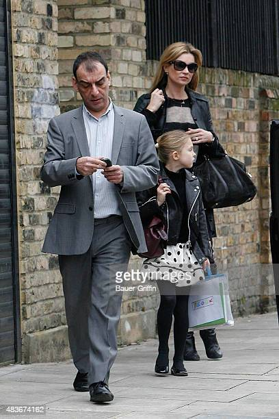 Kate Moss with her daughter Lila Grace are seen on March 03 2011 in London United Kingdom