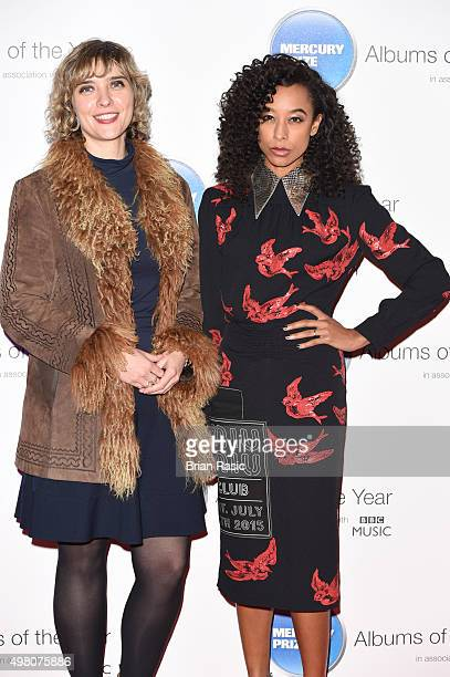 Kate Mossman and Corinne Bailey Rae attend the Mercury Music Prize at BBC Broadcasting House on November 20, 2015 in London, England.