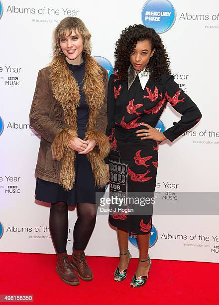 Kate Mossman and Corinne Bailey Rae attend the Mercury Prize at BBC Radio Theatre on November 20, 2015 in London, England.