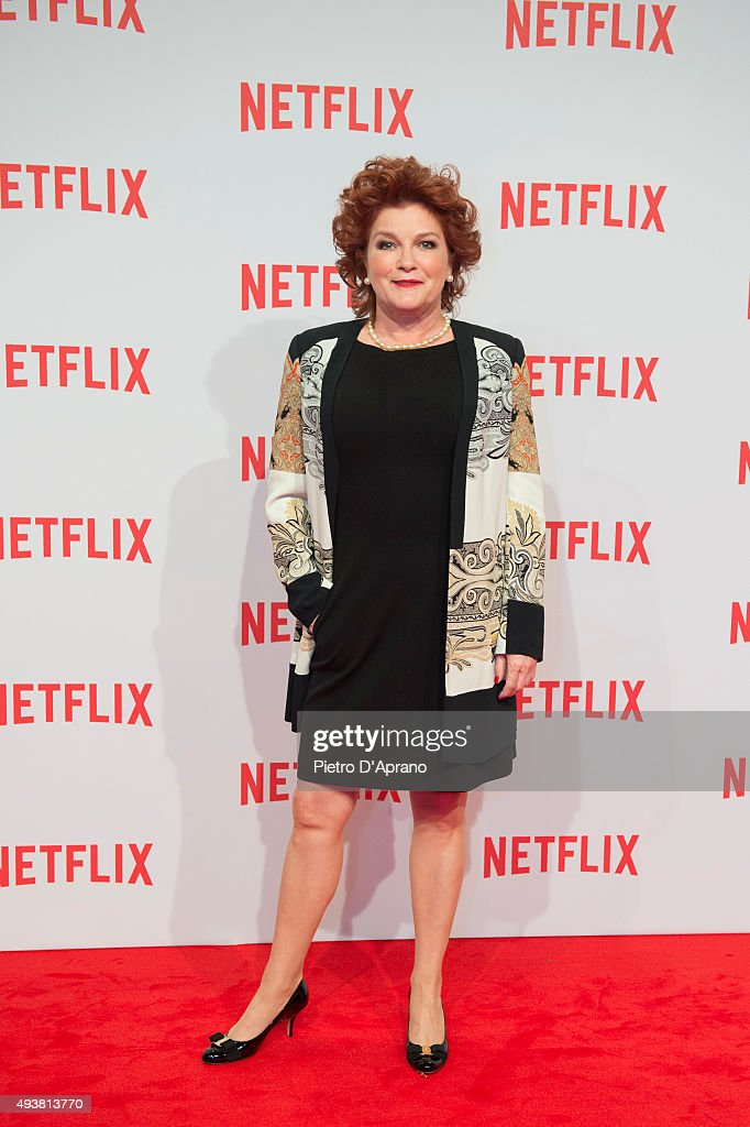 Kate Mulgrew attends the red carpet for the Netflix launch at Palazzo Del Ghiaccio on October 22, 2015 in Milan, Italy.