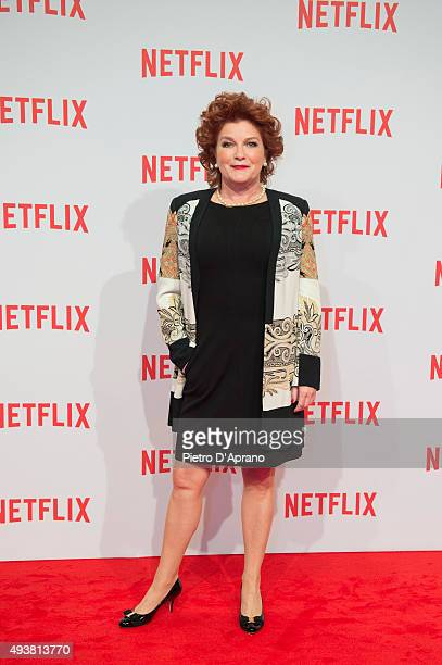 Kate Mulgrew attends the red carpet for the Netflix launch at Palazzo Del Ghiaccio on October 22 2015 in Milan Italy