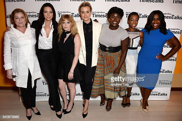 Kate Mulgrew Laura Prepon Natasha Lyonne Taylor Schilling Danielle Brooks Samira Wiley and Uzo Aduba attend TimesTalks Presents 'Orange Is the New...