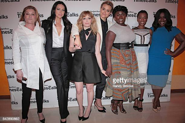 Kate Mulgrew Laura Prepon Natasha Lyonne Taylor Schilling Danielle Brooks Samira Wiley and Uzo Aduba attend the TimesTalks presents 'Orange Is the...