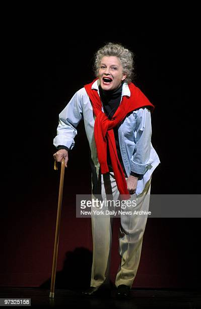 Kate Mulgrew who plays Katharine Hepburn in the upcoming onewoman show 'Tea at Five' gives a preview performance at the 'Nothing Like a Dame 2003'...