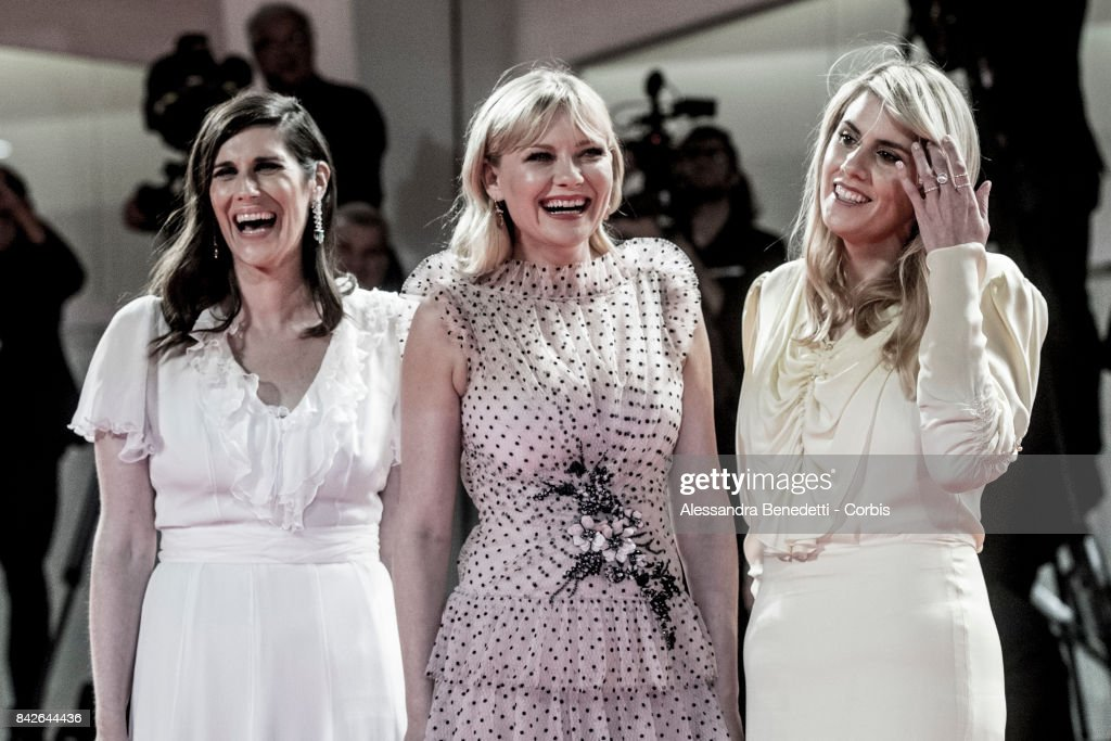 Kate Mulleavy, Kirsten Dunst and Laura Mulleavy walk the red carpet ahead of the 'TWoodshock' screening during the 74th Venice Film Festival at Sala Giardino on September 4, 2017 in Venice, Italy.