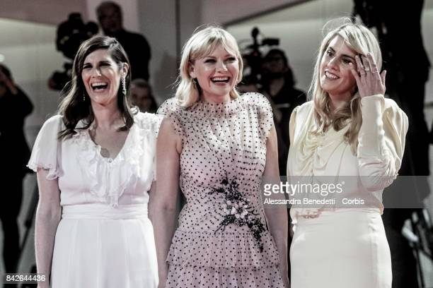 Kate Mulleavy Kirsten Dunst and Laura Mulleavy walk the red carpet ahead of the 'TWoodshock' screening during the 74th Venice Film Festival at Sala...