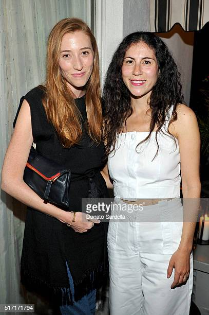Kate Mulling and Nicole Cari attend Doen's celebration of the launch of their collection with friends and family on March 23 2016 in Los Angeles...