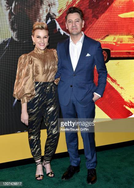 Kate Mulvany and Hamish Michael attend the premiere of Amazon Prime Video's Hunters at DGA Theater on February 19 2020 in Los Angeles California