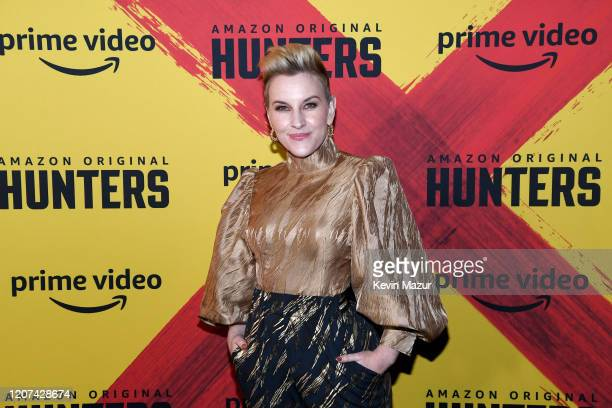 "Kate Mulvany attends the World Premiere Of Amazon Original ""Hunters"" at DGA Theater on February 19, 2020 in Los Angeles, California."