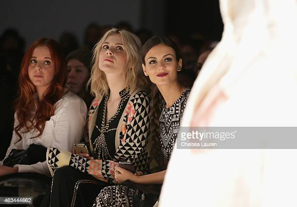 Kate Nash and actress Victoria Justice attend the Mara Hoffman fashion show during MercedesBenz Fashion Week Fall 2015 at The Salon at Lincoln Center...