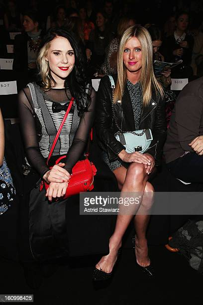 Kate Nash and Nicky Hilton attend the Rebecca Minkoff Fall 2013 fashion show with TRESemme during MercedesBenz Fashion Week at The Theatre at Lincoln...