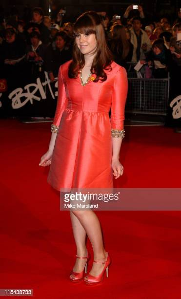 Kate Nash arrives at the 2008 Brit Awards held at Earls Court on February 20 2008 in London England