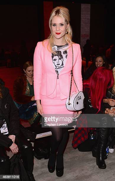 Kate Nash attends the IIJIN fashion show during MercedesBenz Fashion Week Fall 2015 at The Pavilion at Lincoln Center on February 18 2015 in New York...