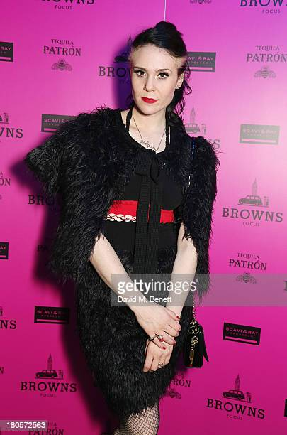 Kate Nash attends the party hosted by Browns Focus Designer Brian Lichtenberg to officially launch the NEW Browns Focus at 24 South Molton Street on...