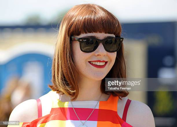 Kate Nash attends the third day of Glastonbury Festival at Worthy Farm on June 26 2010 in Glastonbury England