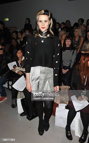 Kate Nash attends the Todd Lynn show during London Fashion Week Autumn/Winter 2012 at Somerset House on February 18 2012 in London England