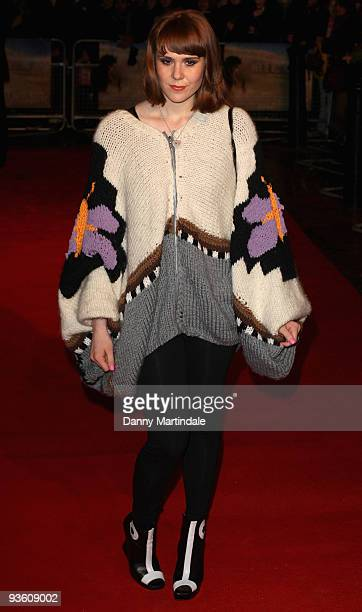 Kate Nash attends the UK Premiere of 'Where The Wild Things Are' at Vue West End on December 2 2009 in London England