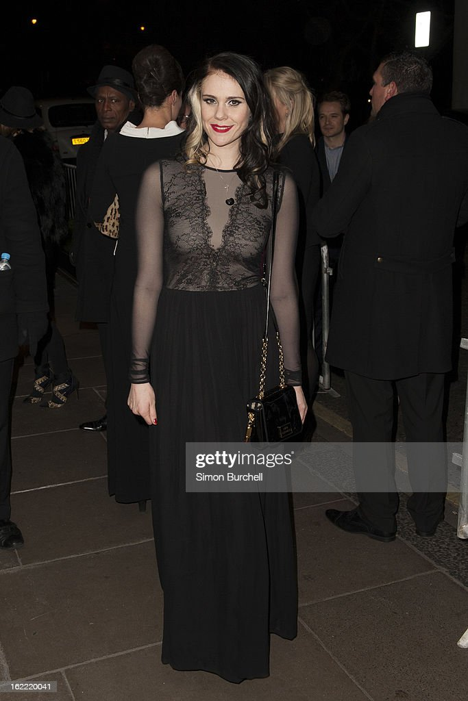 Kate Nash attends the Warner Music Brit awards after party at The Savoy Hotel on February 20, 2013 in London, England.