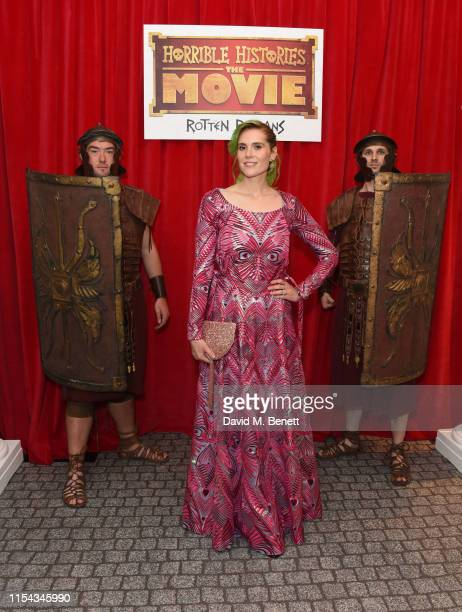 """Kate Nash attends the World Premiere of """"Horrible Histories: The Movie - Rotten Romans"""" at Odeon Luxe Leicester Square on July 6, 2019 in London,..."""