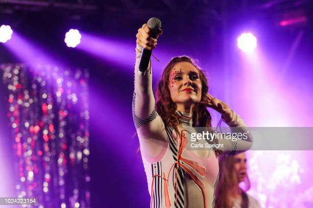 Kate Nash performing on the Festival Republic Stage during the Leeds Festival at Bramhall Park on August 26 2018 in Leeds England