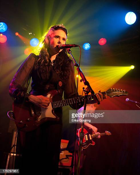 Kate Nash performs at the Billboard Lollapalooza 2013 PreParty at the Double Door on August 1 2013 in Chicago Illinois