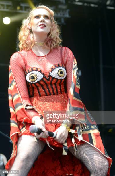 Kate Nash performs during 2014 Lollapalooza at Grant Park on August 2 2014 in Chicago Illinois