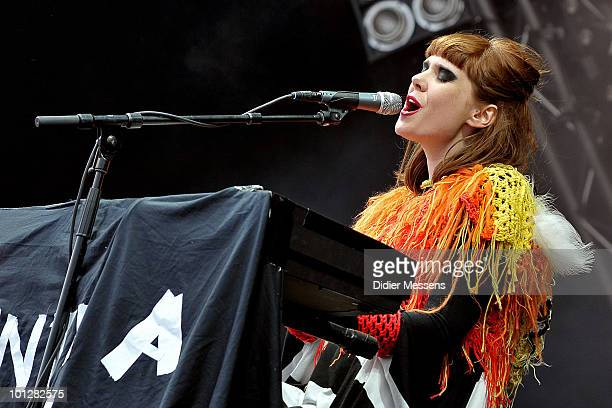 Kate Nash performs during the third and final day of Pink Pop Festival on May 30 2010 in Landgraaf Netherlands