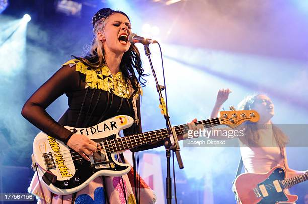 Kate Nash performs on stage on Day 1 of Reading Festival 2013 at Richfield Avenue on August 23 2013 in Reading England