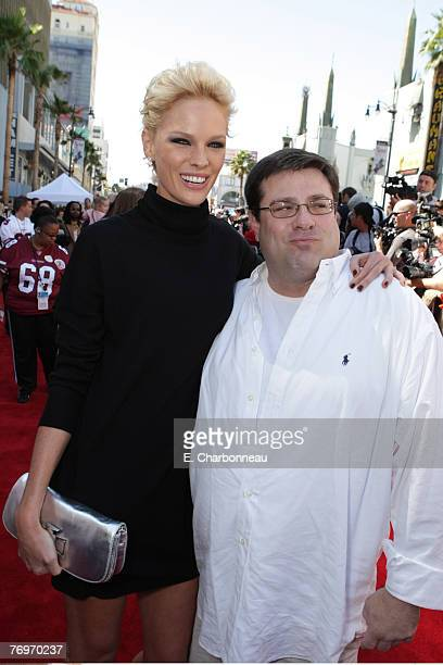 """Kate Nauta and Director Andy Fickman at the World Premiere of Walt Disney Pictures' """"The Game Plan"""" at the El Capitan Theatre on September 23, 2007..."""