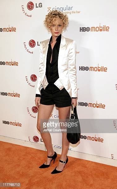 Kate Nauta during Cingular and LG Host Preview Party for HBO Mobile and the New Cingular LGCU 500 Cell Phone Cingular Carpet at Mr Chow Tribeca in...