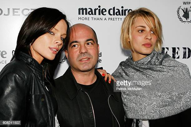 Kate Nauta, Lorenzo Uras and Sveva Alviti attend MARIE CLAIRE and LAUREN BUSH Host an Evening of Photography to Benefit The United Nations World Food...