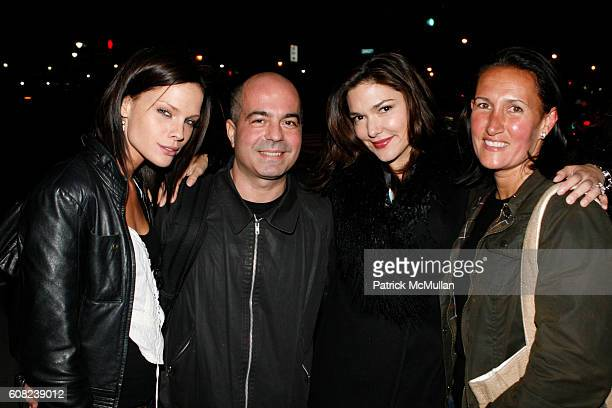 Kate Nauta, Lorenzo Uras, Laura Harring and Christine Schott attend MARIE CLAIRE and LAUREN BUSH Host an Evening of Photography to Benefit The United...
