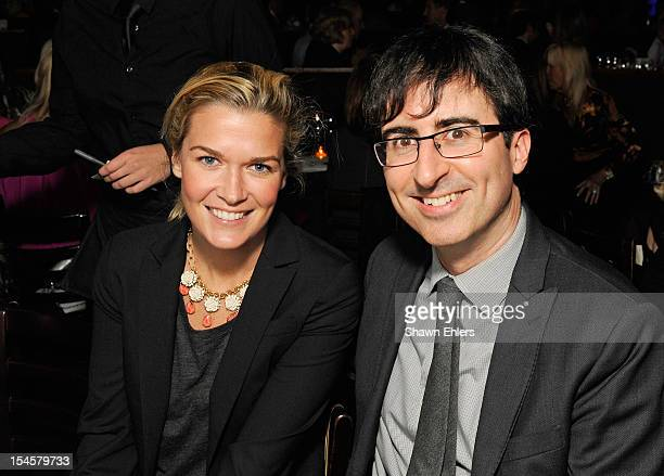 Kate Norley and John Oliver attend Comedians 'Stand Up' for Scleroderma at Cool Comedy Hot Cuisine at Caroline's On Broadway on October 22 2012 in...