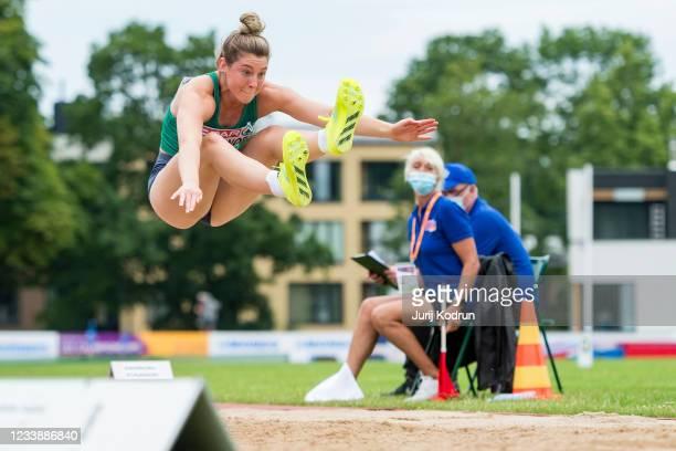 Kate OConnor of Ireland competes during Women's Heptathlon Long Jump during 2021 European Athletics U23 Championships - Day 2 at at Kadriorg Stadium...