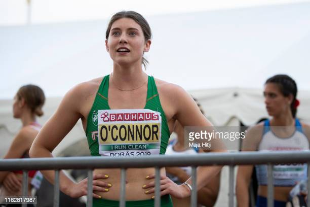 Kate O'Connor of Ireland reacts after the Heptathlon Women 200m on July 18 2019 in Boras Sweden