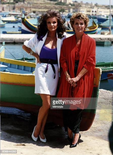 Kate O'Mara actres with Jan Harvey Actress both star in Howards End on location in Malta 1st May 1989