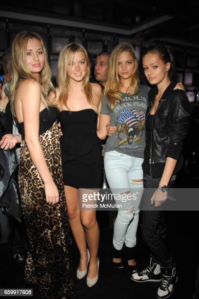 Kate Owen Ilana Shaffer Horse and Ania Cywinska attend Karim Amatullah's Birthday Celebration at SL Night Club on December 9 2009 in Miami Beach FL