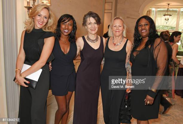 Kate Pakenham, Jade Anouka, Dame Harriet Walter, Phyllida Lloyd and Jennifer Joseph attend The South Bank Sky Arts Awards drinks reception at The...