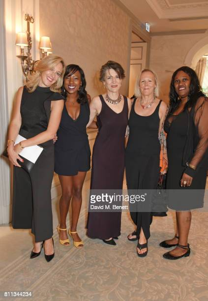 Kate Pakenham Jade Anouka Dame Harriet Walter Phyllida Lloyd and Jennifer Joseph attend The South Bank Sky Arts Awards drinks reception at The Savoy...