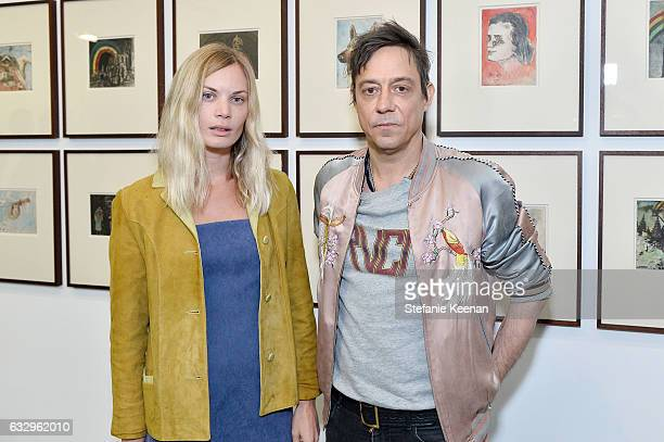 Kate Parfet and Jamie Hince attend UTA Artist Space Jake and Dinos Chapman Opening 2017 at UTA Theater on January 28 2017 in Los Angeles California