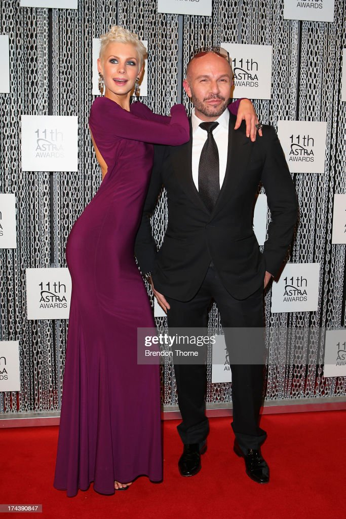 Kate Peck and Alex Perry arrive at the 11th Annual ASTRA Awards at The Sydney Theratre on July 25, 2013 in Sydney, Australia.