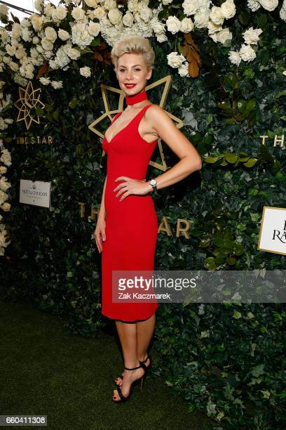 Kate Peck arrives ahead of the Star Doncaster Mile Inaugural Luncheon at The Star on March 30 2017 in Sydney Australia